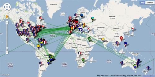 G2網路Hub分布地圖